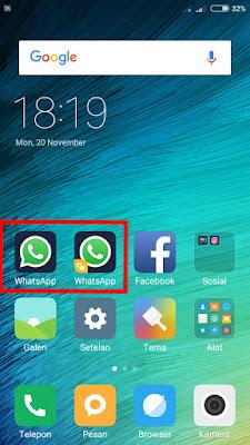 Membuat 2 Aplikasi Whatsapp