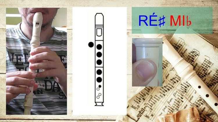 Ré# ou Mib - Flauta doce soprano germânica