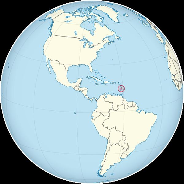 Letak negara Saint Lucia