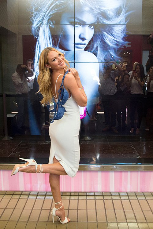 Candice Swanepoel kicks off Bombshells'  Day in Dallas