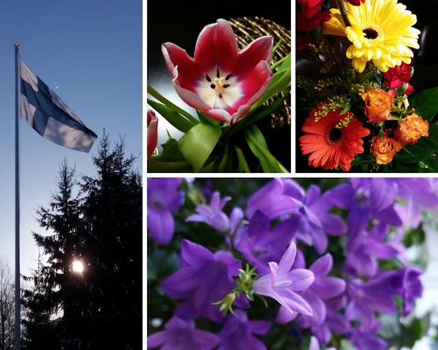 helmikuu juhlia ja kukkia