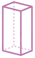 立体のイラスト(四角柱・直方体)