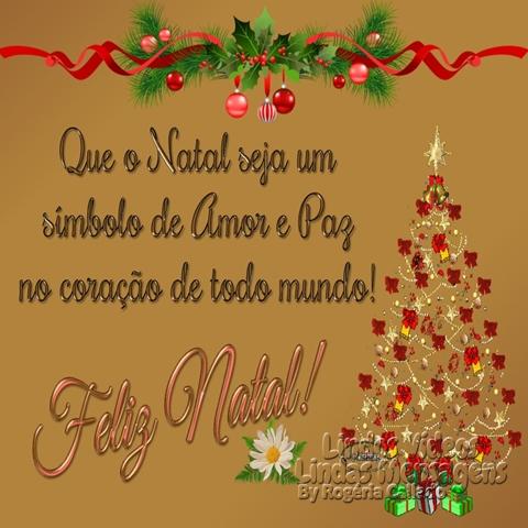 Que o Natal seja um  símbolo de Amor e Paz no coração de todo mundo! Feliz Natal!