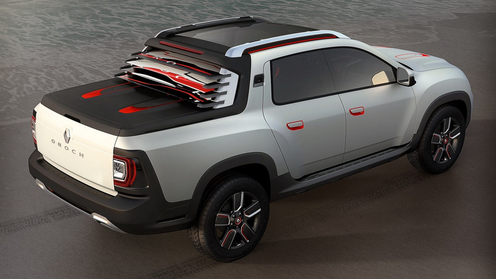 renault turns duster into oroch pickup truck concept for brazil. Black Bedroom Furniture Sets. Home Design Ideas