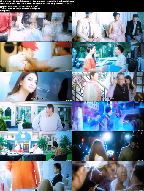 Veerey Ki Wedding 2018 Pre DVDRip 800MB Full Hindi Movie Download