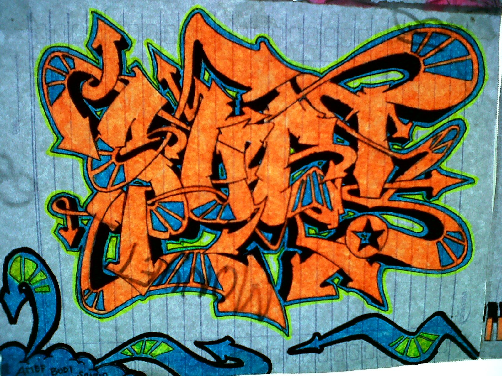 4RI3F BL0G graffiti name
