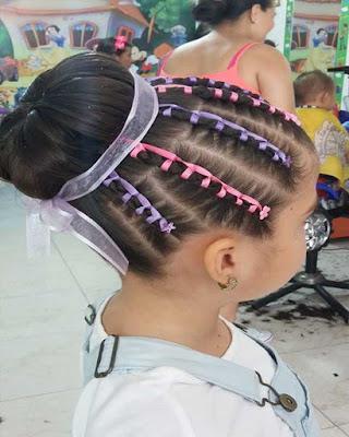 peinados para niñas con ligas faciles