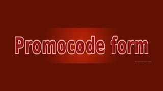 Promocode Form