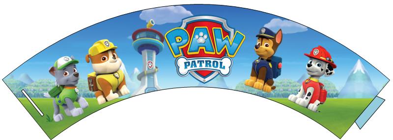Free Cupcake Wrappers: Paw Patrol