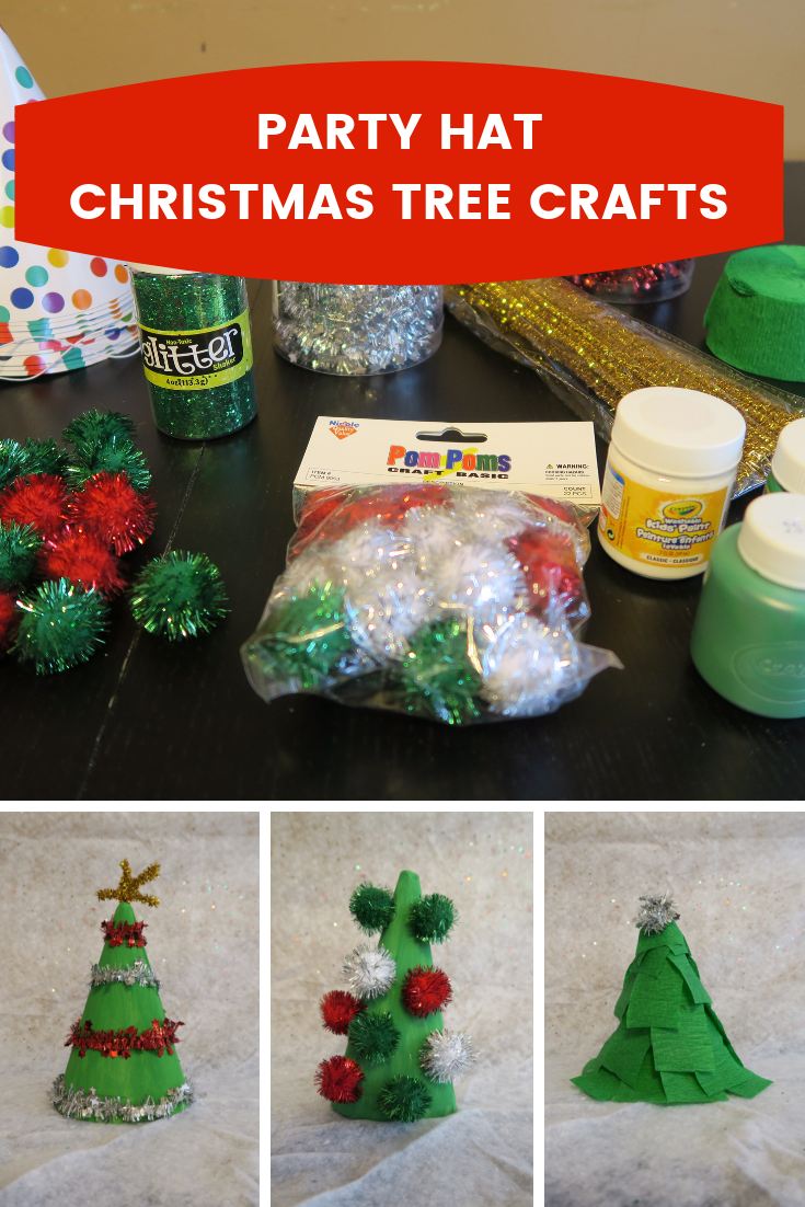 Do Something Christmasy So I Came Up With This Easy Craft To Use Some Of The Party Hats Have Leftover From BabyCakess Last Two Birthday Parties