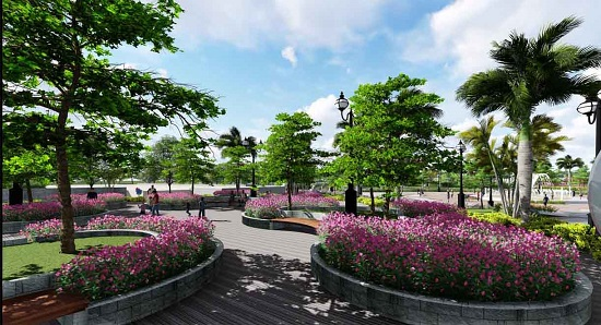Hệ thống cảnh quan sinh thái xanh tại chung cư Rose Town