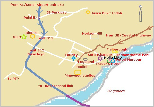 Traders Hotel Map Johor