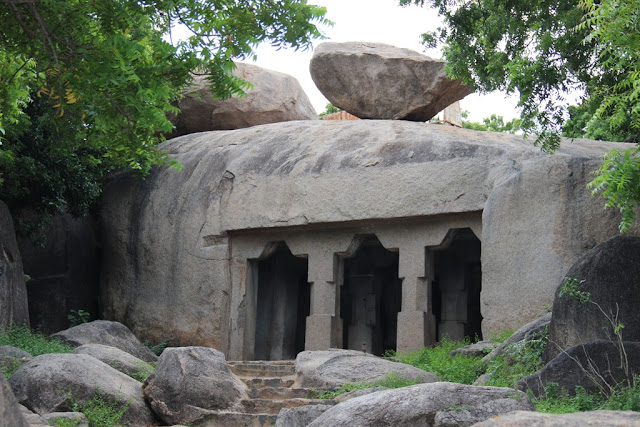 Unfinished cave temple in Mahabalipuram - Pallava dynasty