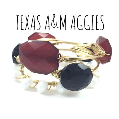 Texas A&M maroon bangle set