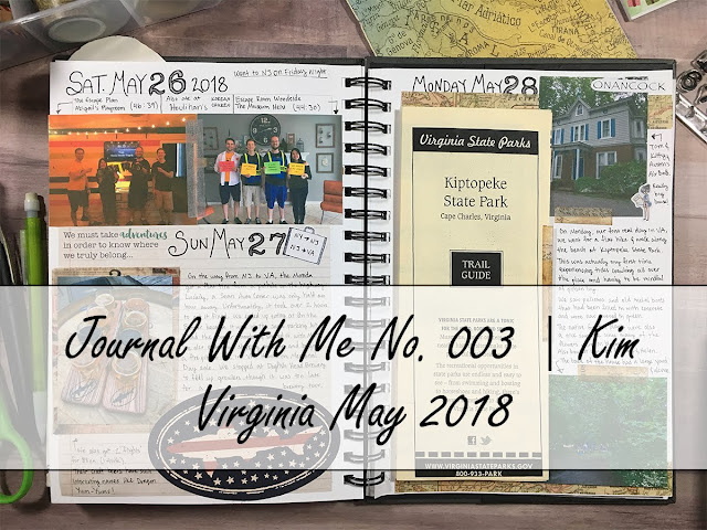 3 Years Apart open journal spread with title: Journal With Me No. 003 | Kim Virginia May 2018