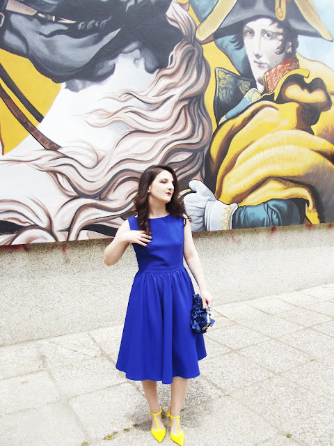 Blue-dress-zara-heels