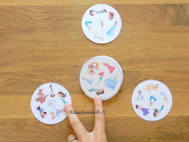 || Jeu de doubles Princesses Disney à imprimer