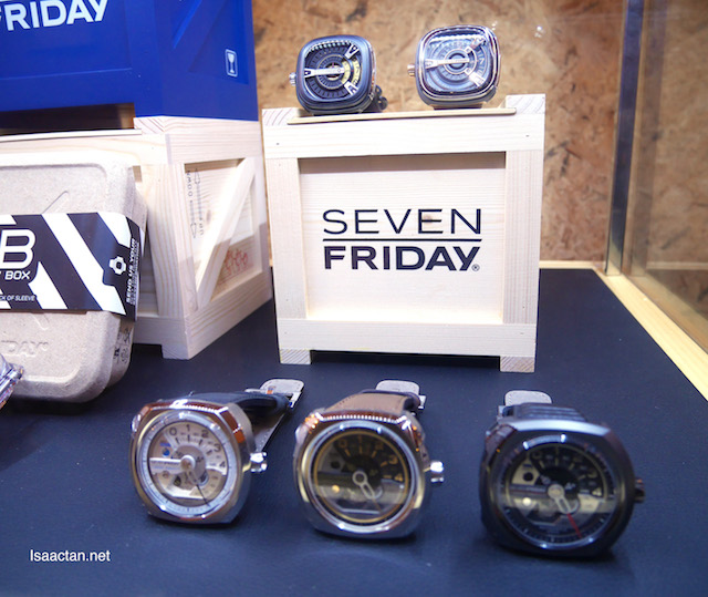 The new Q Series, showcased along with other previous SevenFriday series watches