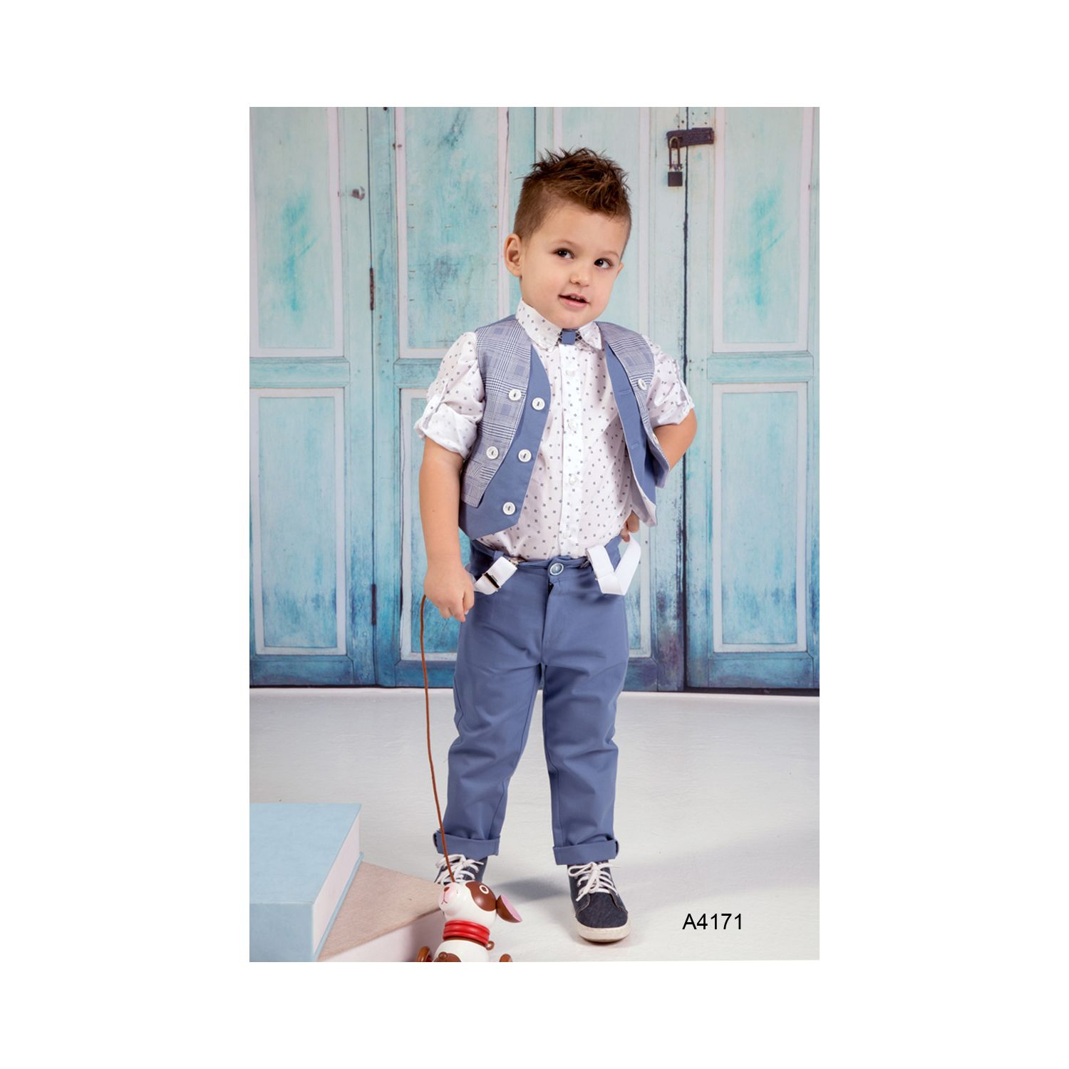 Modern christening clothes for boys A4171