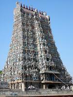 Gopuram with nine Kalashas,   Meenakshi Temple, Madurai