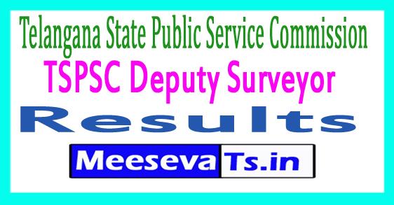 TSPSC Deputy Surveyor Result 2017