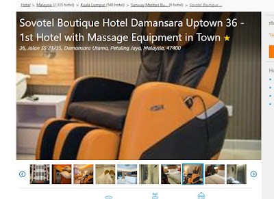 Sovotel Boutique Damansara Uptown 36 with massage chair