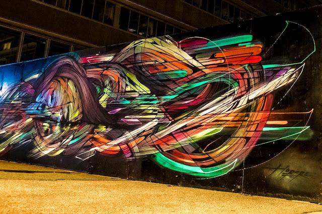 French Street Artist Hopare In Cergy, France For The Cergy Soit Street Art Festival. 2