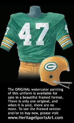 Green Bay Packers 1976 uniform