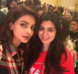 Saba Qamar and Yasir hussain at lahore for promoting upcoming Pakistani film Lahore se aagey.