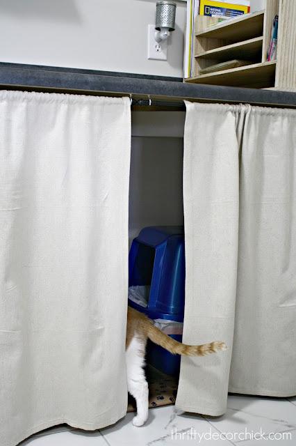 Hiding the cat litter boxes