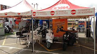 Evento de motocicletas en la 14 de Calima. Exhibicion de motocicletas SYM