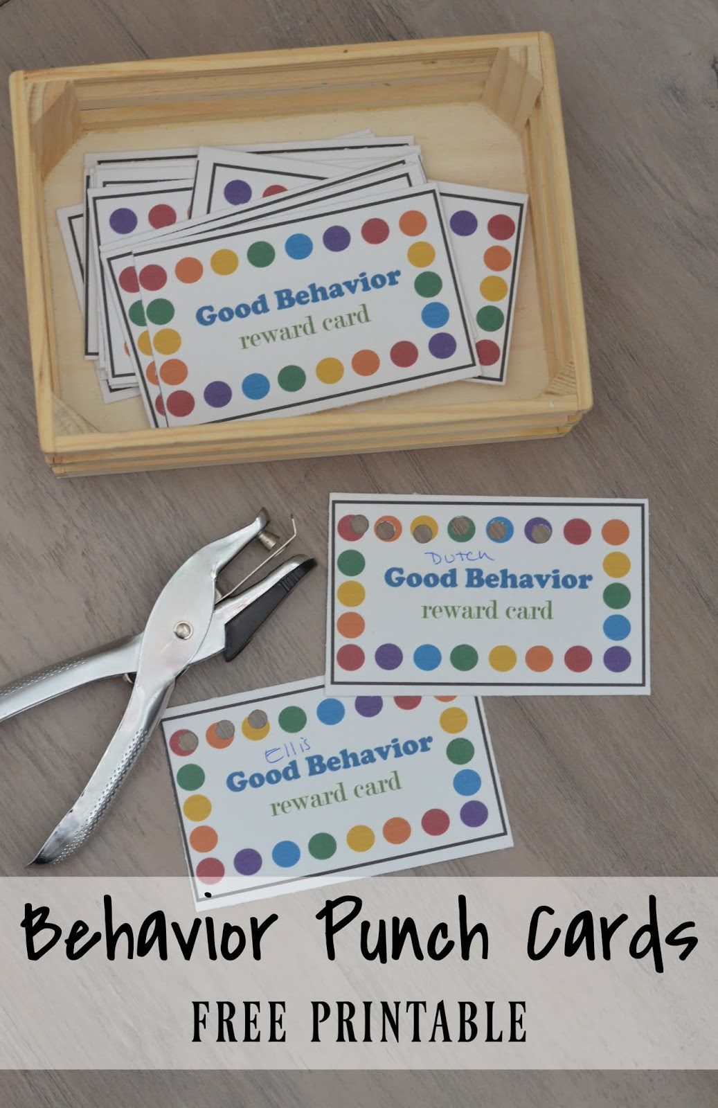 Hawley: Behavior Punch Cards Inside Reward Punch Card Template