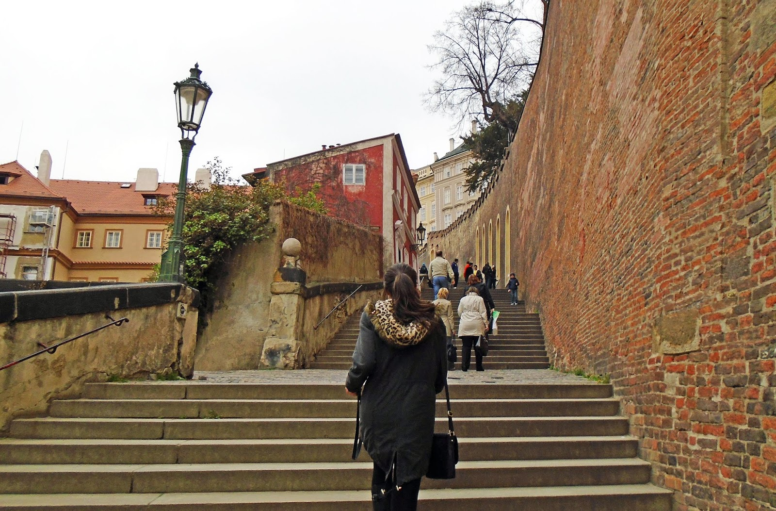 Walking up to Prague Castle, Czech Republic