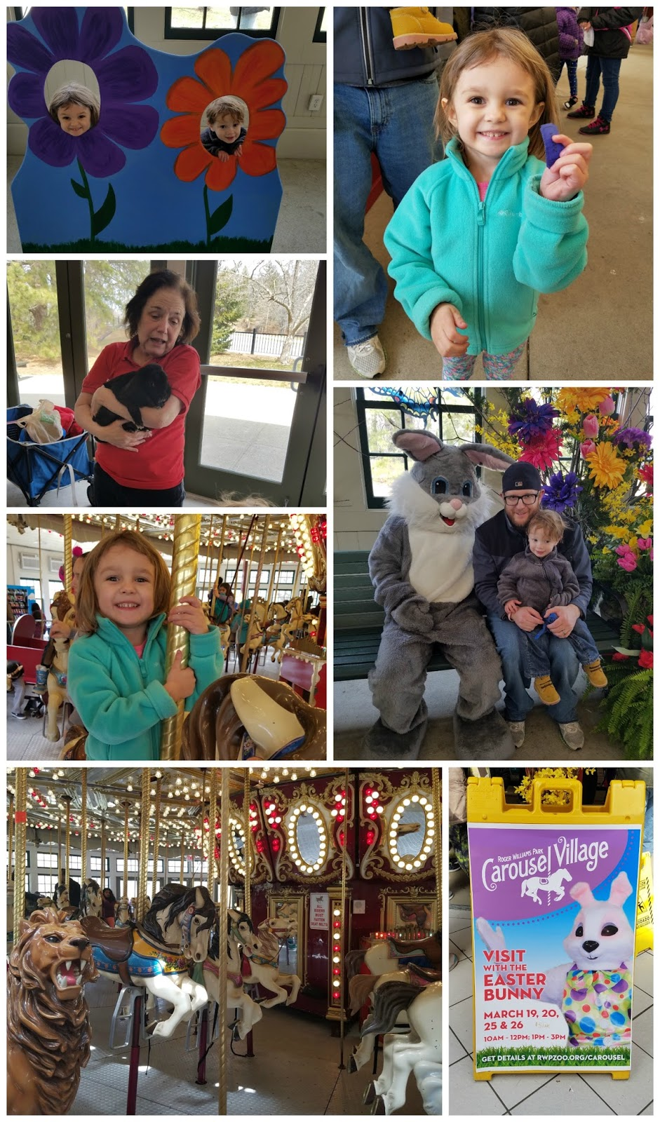 The Busy Giffs Visit the Easter Bunny at Roger Williams Park