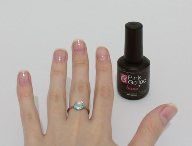 pink gellac manicura permanente