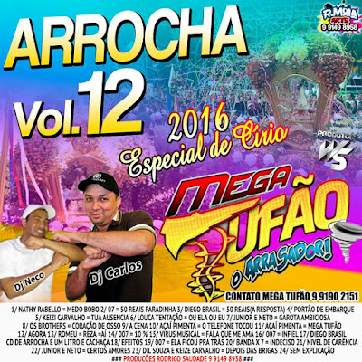 CD ARROCHA 2016 - MEGA TUFÃO VOL.12