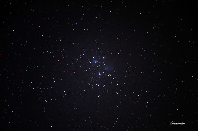 Pentax K5 + O-GPS1 LPS-P2 filter /金牛座的M45 七姐妹星團