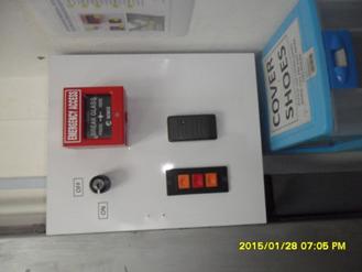 Push button rooling door