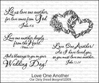 Our Daily Bread designs stamps Love One Another