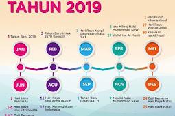 Hari Libur Nasional dan Cuti Bersama Tahun 2019, Catat Nih Traveler