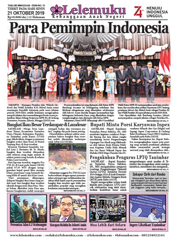 Tabloid Lelemuku #12 - Para Pemimpin Indonesia - 21 Oktober 2019