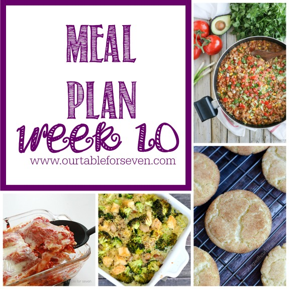 Meal Plan: Week 10