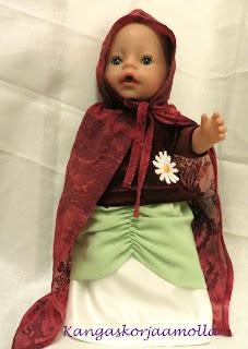 Baby Born nukelle hameita