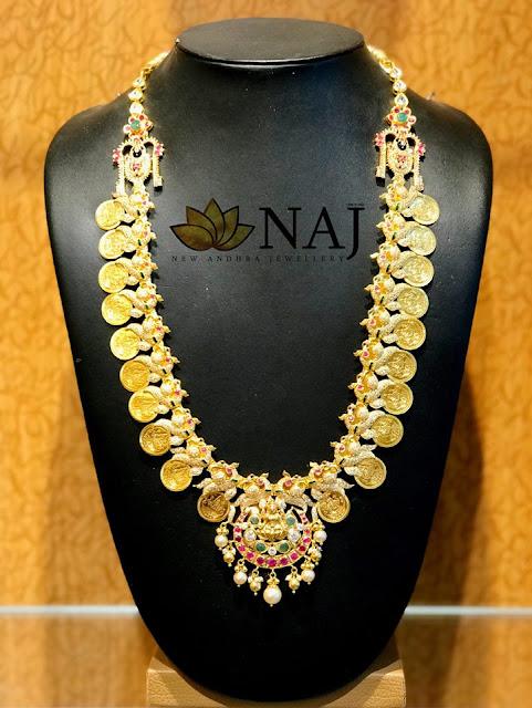 Trendy Kasu Haram Designs with Diamonds