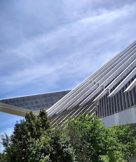 Detalle del palacio de congresos Calatrava