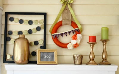 Halloween Mantel and 5 Must-Try Crafts for Halloween | #halloween #crafts #diy #holiday