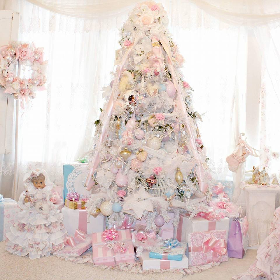 Awesome Christmas Tree Decorating Ideas In Pastel For: Olivia's Romantic Home: Pastel Pink Christmas 2016
