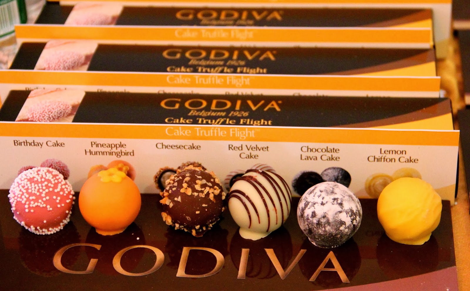 Fashionably Petite Godiva Truffle Flight Collection
