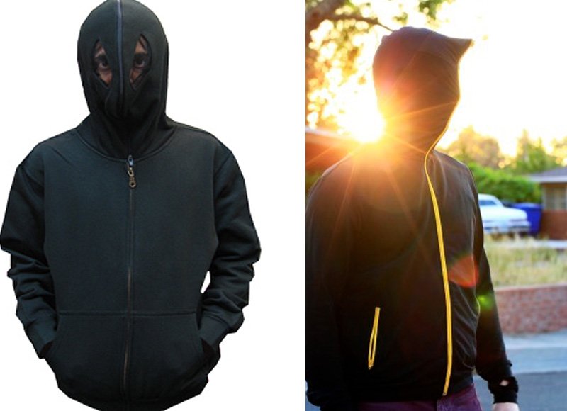 Full face zip up hoodies