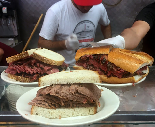Pastrami sandwich at Katz's Deli, New York.